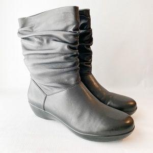 Dansko Slouch Devin Black Leather Mid Calf Boot 43